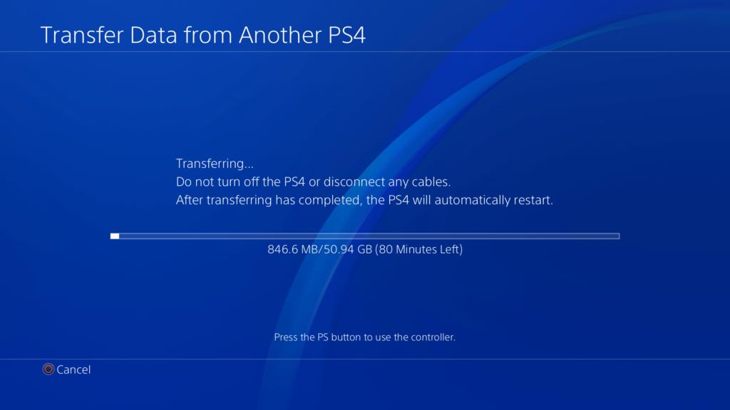 PS4 Pro Overfør Data