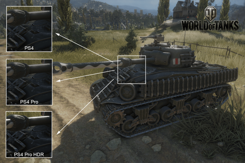 World of Tanks PS4 Pro HDR