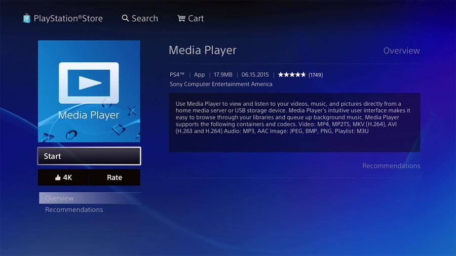 PS4 Pro - Media Player - 4K