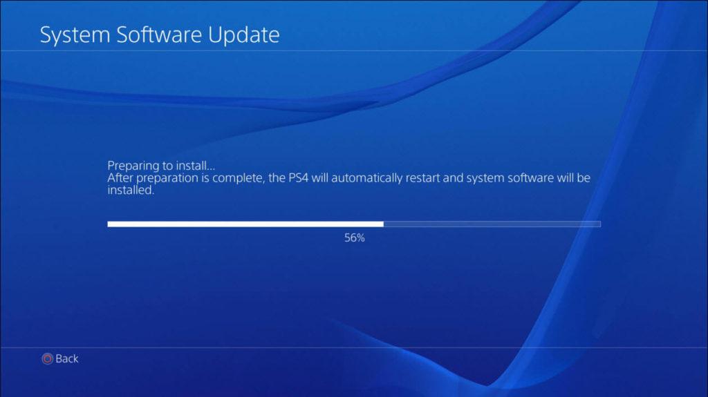 PS4 Software Update 5.00